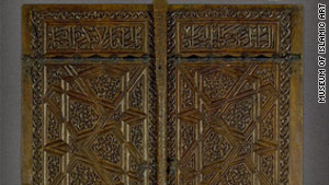 Carved walnut wood window shutters from Anatolia c. 1270 are one of many treasures on display at the Museum of Islamic Art in Doha, Qatar.