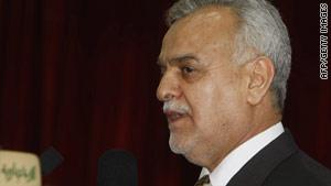 Tariq al-Hashimi, Iraq's Sunni vice president, pushed for more parliamentary representation for Iraq's refugees.
