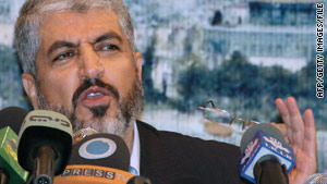 Hamas leader Khaled Mashaal, shown here in October, met with Iran's president on Sunday.