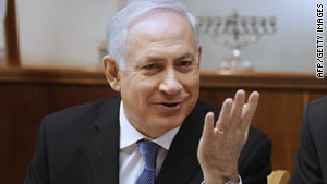 Israeli Prime Minister Benjamin Netanyahu speaks at a Cabinet meeting in Jerusalem on Sunday.