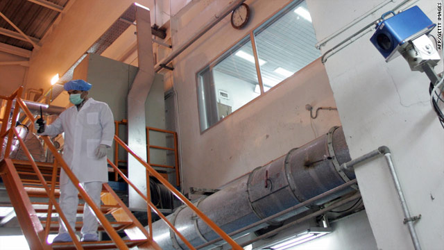 A camera, right, installed by the International Atomic Energy Agency, monitors a nuclear facility in Isfahan, Iran, in February 2007.
