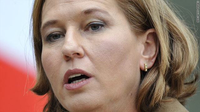 Tzipi Livni was foreign minister during Israel's three-week offensive against Hamas in Gaza a year ago.