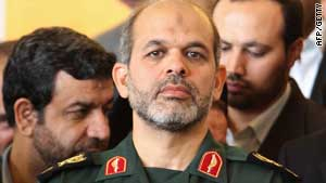 "Iranian Defense Minister Gen. Ahmad Vahidi said the high-speed Sajil-2 missile has ""great maneuverability."""