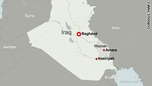 The oil well is in Maysan province, east of Amara, near the Iranian border, officials say.