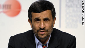 """Iranian President Mahmoud Ahmadinejad says others can give Iran """"as many deadlines as they want, we don't care."""""""