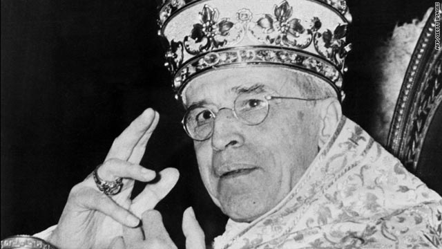 Pope Pius XII served as pontiff from 1939 to 1958. He is accused of not doing enough to stop Nazi atrocities during World War II.