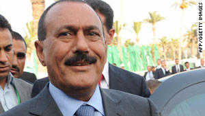 Yemeni President Ali Abdullah Saleh began accepting U.S. help against al Qaeda last summer, an official says.