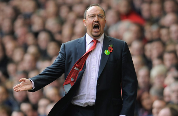 A fired up Benitez inspired his men to a superb win over Manchester United.