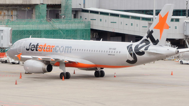 A Jetstar Pacific passenger jet parked January 2009 at Changi International airport in Singapore.