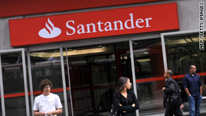 Santander's logo will now become a familiar sight on Britain's high streets.