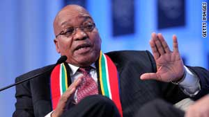 Zuma faces polygamy question at Davos