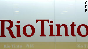 Rio Tinto, which has headquarters in Australia and the UK, is the second largest mining company in the world.