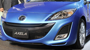 The Axela, also branded as the Mazda 3, was recalled on Thursday.