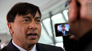 Lakshmi Mittal ranked fifth on last month's Forbes list of world's richest people.