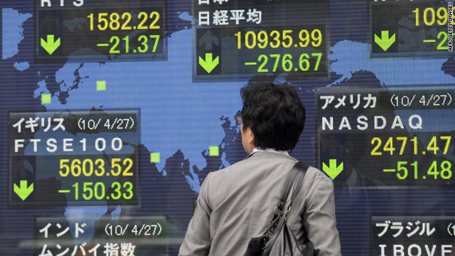 Stock markets across the world slipped into the red over sovereign debt concerns.