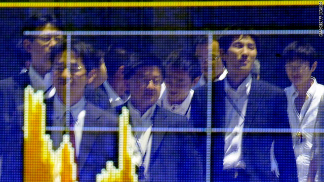 Trading in Tokyo was down by 4 percent on Monday as the global stock selloff that began in the U.S. on Friday continued on soft U.S. jobs data and fears about Hungary.