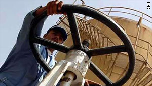 A worker at a Basra oil refinery.