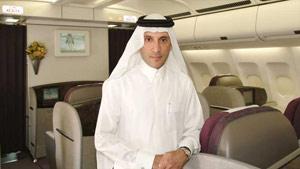 CEO of Qatar Airways, Akbar al Baker attends the 47th Farnborough International Airshow.