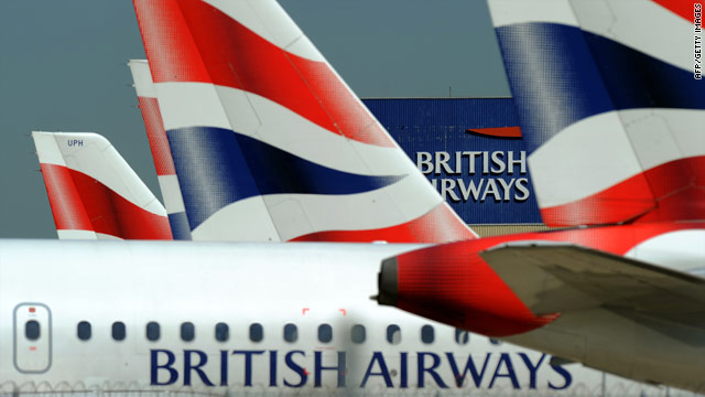British Airways' quarterly earnings were hit by cabin crew strikes and cancelations due to volcanic ash.