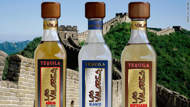 This company ad for Los Valores tequila shows the liquor towering over China's Great Wall. However, due to alcohol content restrictions, the premium tequila has yet to be sold in the world's most populous market.