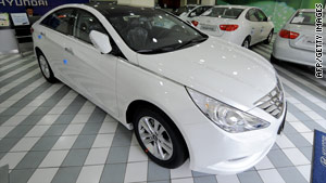 The recall is for 2011 Hyundai Sonata sedans manufactured between December and September.