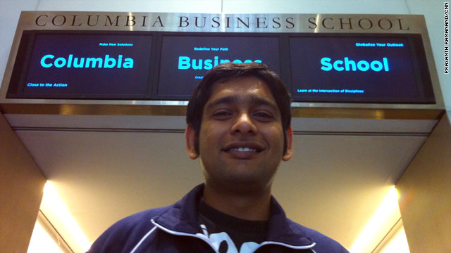 Columbia Business School student Prasanth Ramanand sees opportunities in the financial services industry.