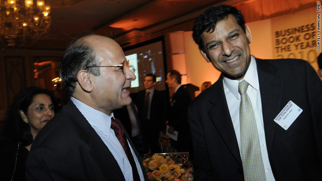 "Raghuram Rajan (right) was one of the economists who predicted the 2008 financial crisis. In his book ""Fault Lines,"" which has won the 2010 Business Book of the Year award, he raises a new alarm."