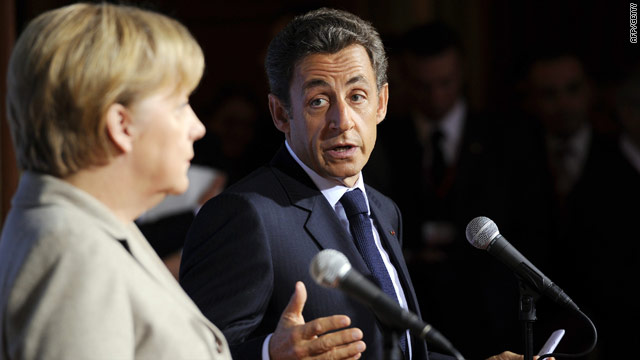 German Chancellor Angela Merkel [left] and French President Nicolas Sarkozy have praised Ireland's austerity plans.