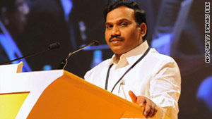 Former telecommunications minister A. Raja was forced to step down.