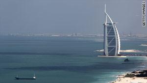 Dubai's Burj al Arab hotel.