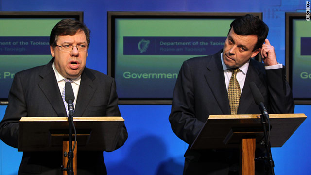 Investors are still nervous despite the efforts of the Irish Prime Minister Brian Cowen (L) and finance minister Brian Lenihan.
