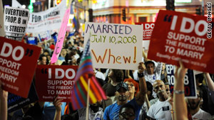 Voter approval of Proposition 8, which bans same-sex marriage, spurred months of protests in California.
