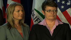 Sandra Stier, left, and Kristin Perry have been together for eight years and have four sons.