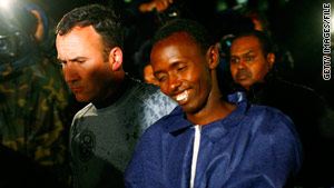Suspected Somali pirate Abduwali Abdukhadir  Muse is brought into court in New York in May.