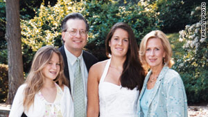 Dr. William Petit, with his wife, Jennifer Hawke-Petit, and their two daughters, Michaela, left, and Hayley.