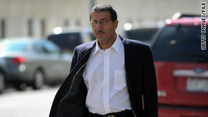Mohammed Wali Zazi, father of Najibullah Zazi, arrives at federal court in Denver, Colorado, in October.