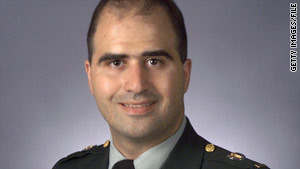 Maj. Nidal Malik Hasan, in an undated photo, is charged with 13 counts of premeditated murder in the Fort Hood shootings.