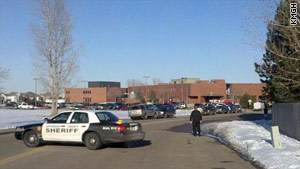 Two students were wounded  February 23 at Deer Creek Middle School in Littleton, Colorado.
