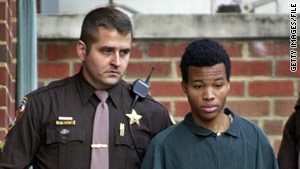 Lee Boyd Malvo is led to a court hearing in 2002. He is serving life in a Virginia prison for a shooting spree.