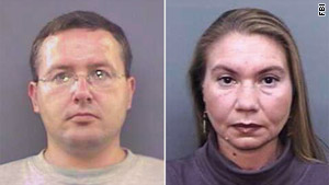 Dmitriy Yakovlev, 42, was charged with the murders of Viktor Alekseyev, left, and Irina Malezhik.