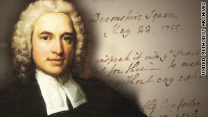 Among the missing items was a letter written by United Methodist Church founder Charles Wesley.