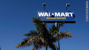 Wal-Mart is working with law enforcement officials to investigate a racial incident.