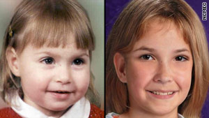 Samantha Kibalo is shown at the time she disappeared, and what she might look like today at age 11.