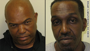 Lee Anthony Evans, left, and Philander Hampton have been charged with murder and arson.