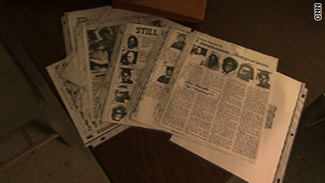 Newark police investigators kept newspaper clippings from the files on the &quot;Clinton Avenue Five&quot; case.