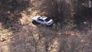 This car, thought the one used in the alleged kidnapping of a 7-year-old girl, was found Monday in Norman.