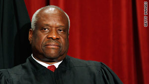 Justice Clarence Thomas, usually taciturn at Supreme Court arguments, showed his humorous side on Tuesday.