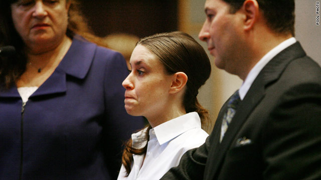 Casey Anthony, shown at her last court appearance, is charged with first-degree murder. Her trial is set for next year.