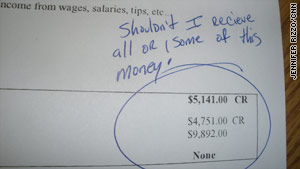 An inmate writes his complaint after Monroe County jail blocks his refund check.