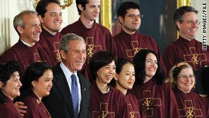 President Bush marks the National Day of Prayer in May 2008 with St. Patrick's choir.